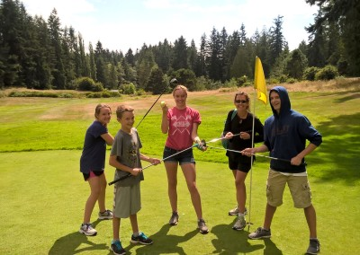 family fun at Island Greens Golf Course, up the road